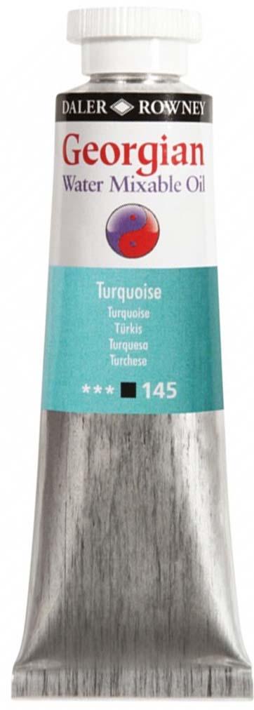 Daler RowneyКраска масляная водоразмываемая Georgian цвет бирюзовый 37 мл Daler Rowney