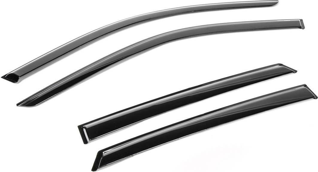 Дефлекторы Rival для окон Lada Kalina седан, хэтчбек 5-дв. 2004-2013 2013-, поликарбонат, 4 шт. 760103