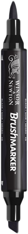 Winsor&Newton Маркер двухсторонний Brushmarker цвет xb черный -  Маркеры