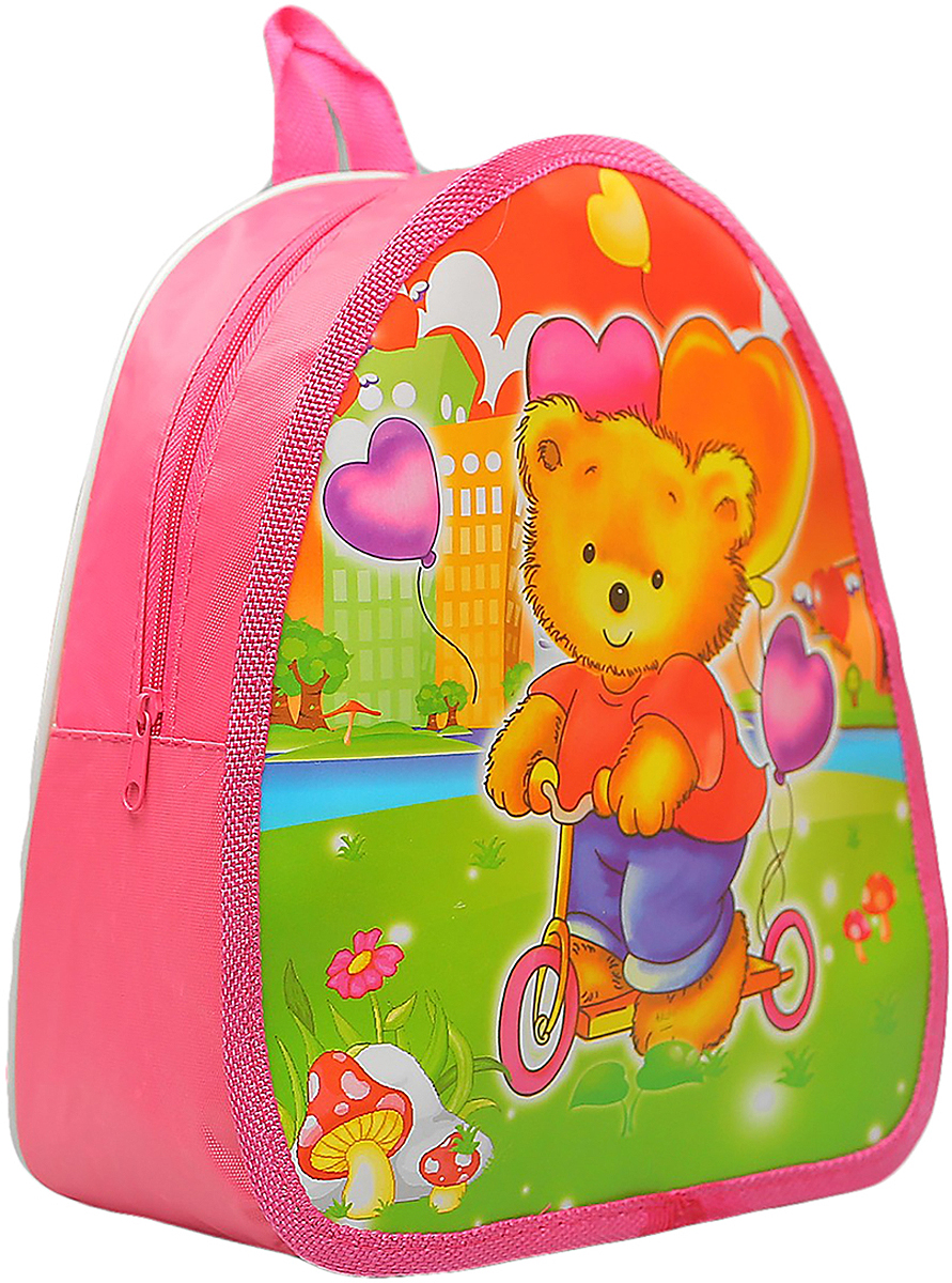 Рюкзак детский Мишка цвет розовый 1354465