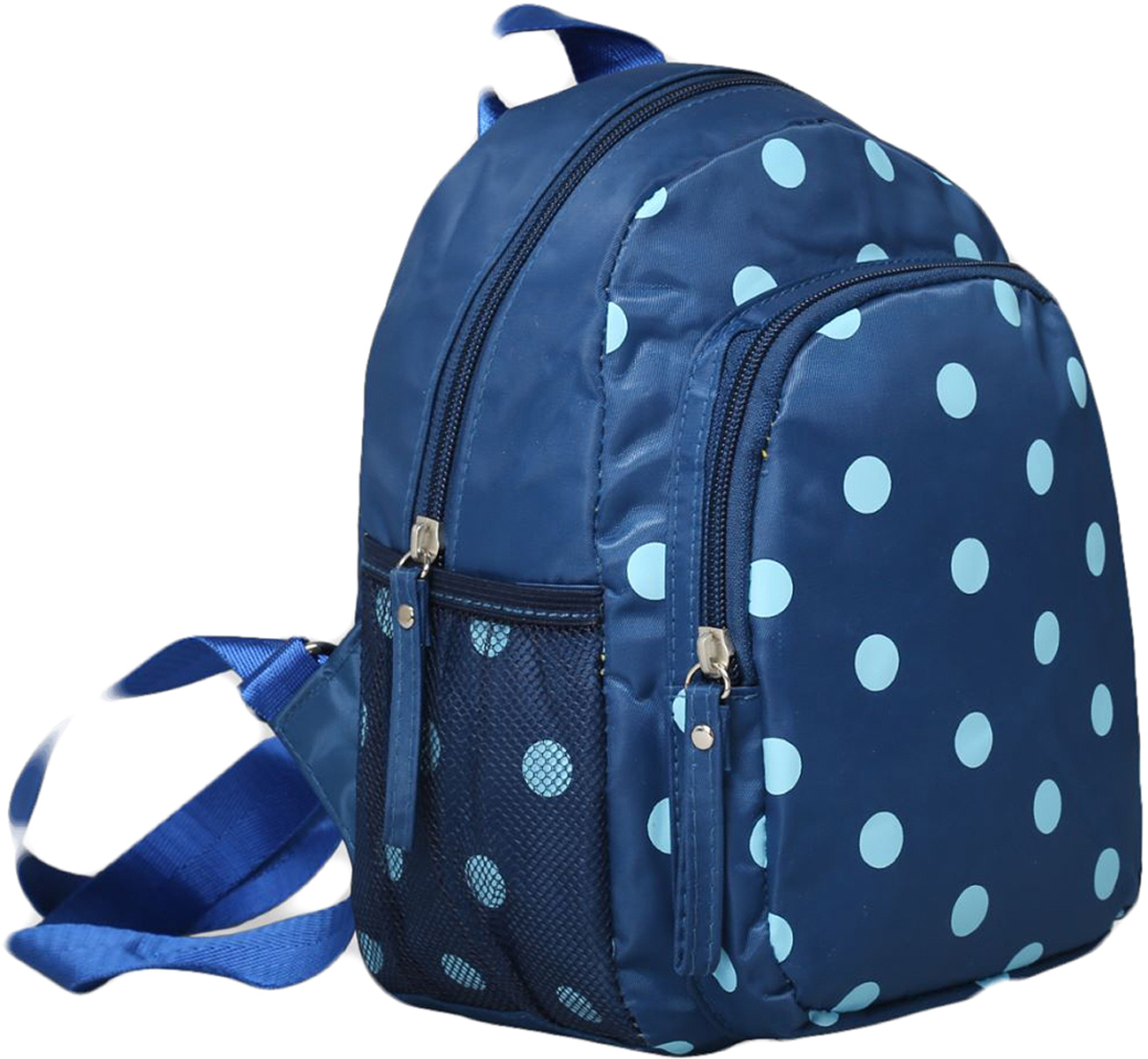 Рюкзак детский Горошек цвет синий 1470165, NoName