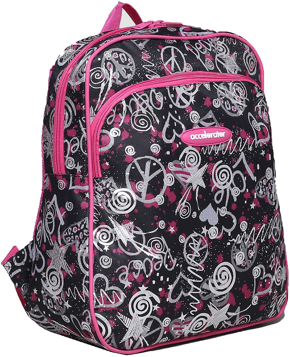 Рюкзак детский Звезды цвет черный розовый 1661011, NoName