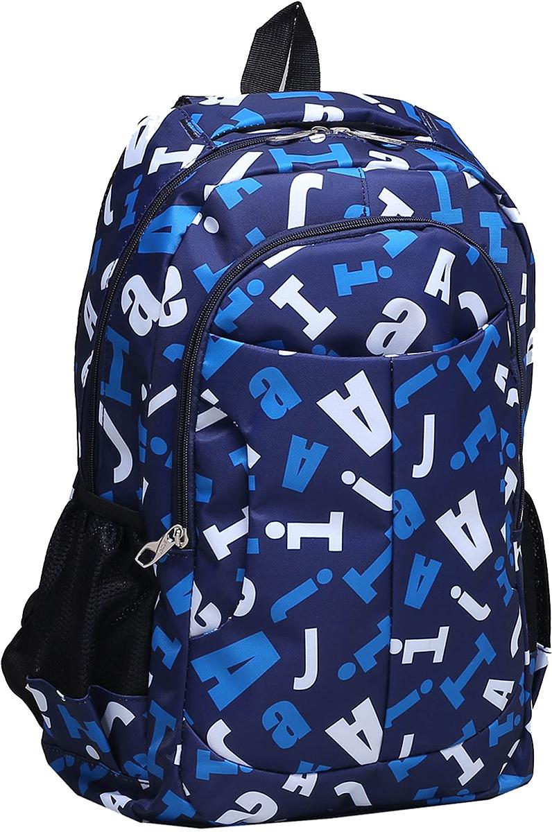 Рюкзак детский Буквы цвет синий 1675392, NoName
