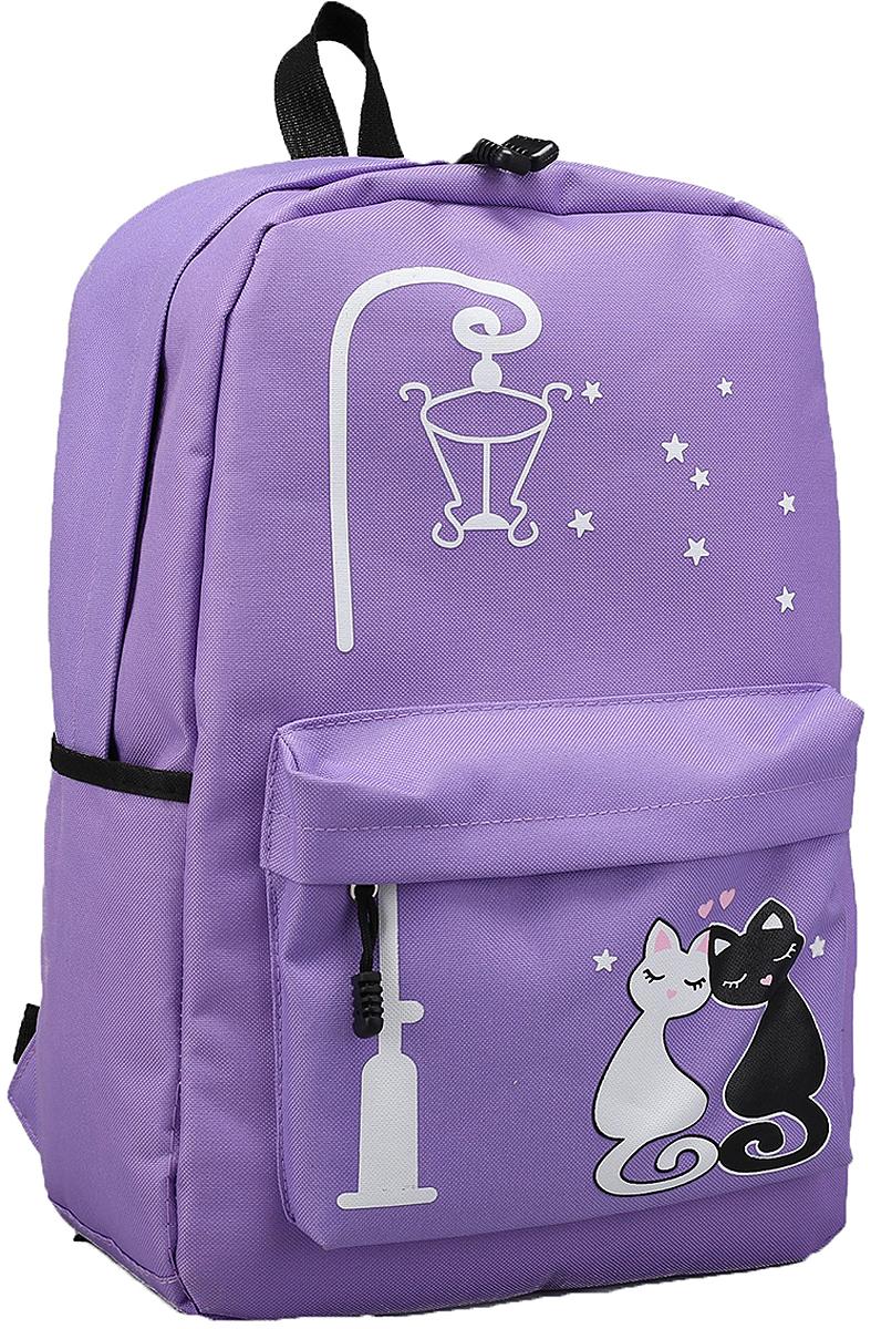Рюкзак детский Под фонарем цвет сиреневый 2826019 tiger enterprise рюкзак детский fantasy цвет сиреневый