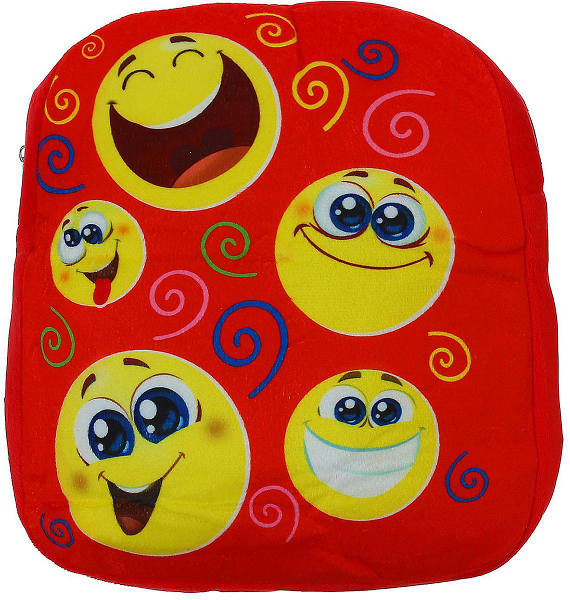Страна Карнавалия Рюкзак дошкольный Веселые смайлики цвет: красный 1427056 фонарик бумажный страна карнавалия хочу найти свою любовь в форме сердца цвет красный