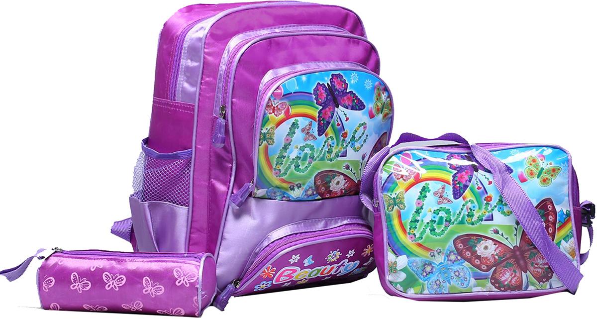 Рюкзак детский Бабочки цвет фиолетовый 18573761857376Маленькие, казалось бы, незначительные элементы зачастую завершают, дополняют образ, подчеркивают статус, стиль и вкус своего обладателя. Рюкзак - одна из подобных деталей. Это вещь достойного качества, которая может стать прекрасным подарком по любому поводу.