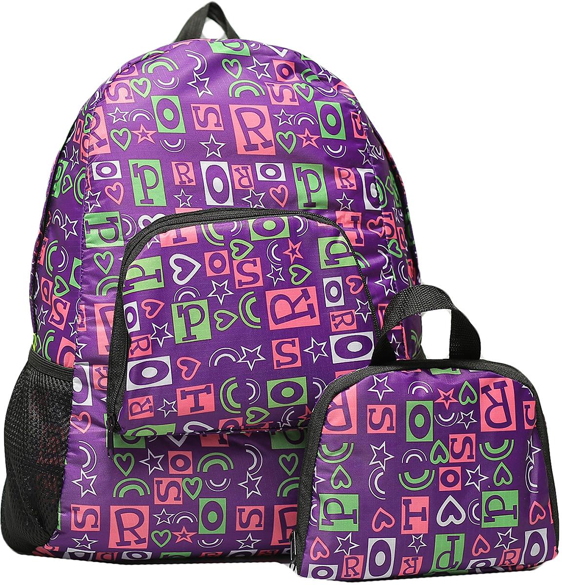 Рюкзак детский Буквы цвет фиолетовый 2826148, NoName