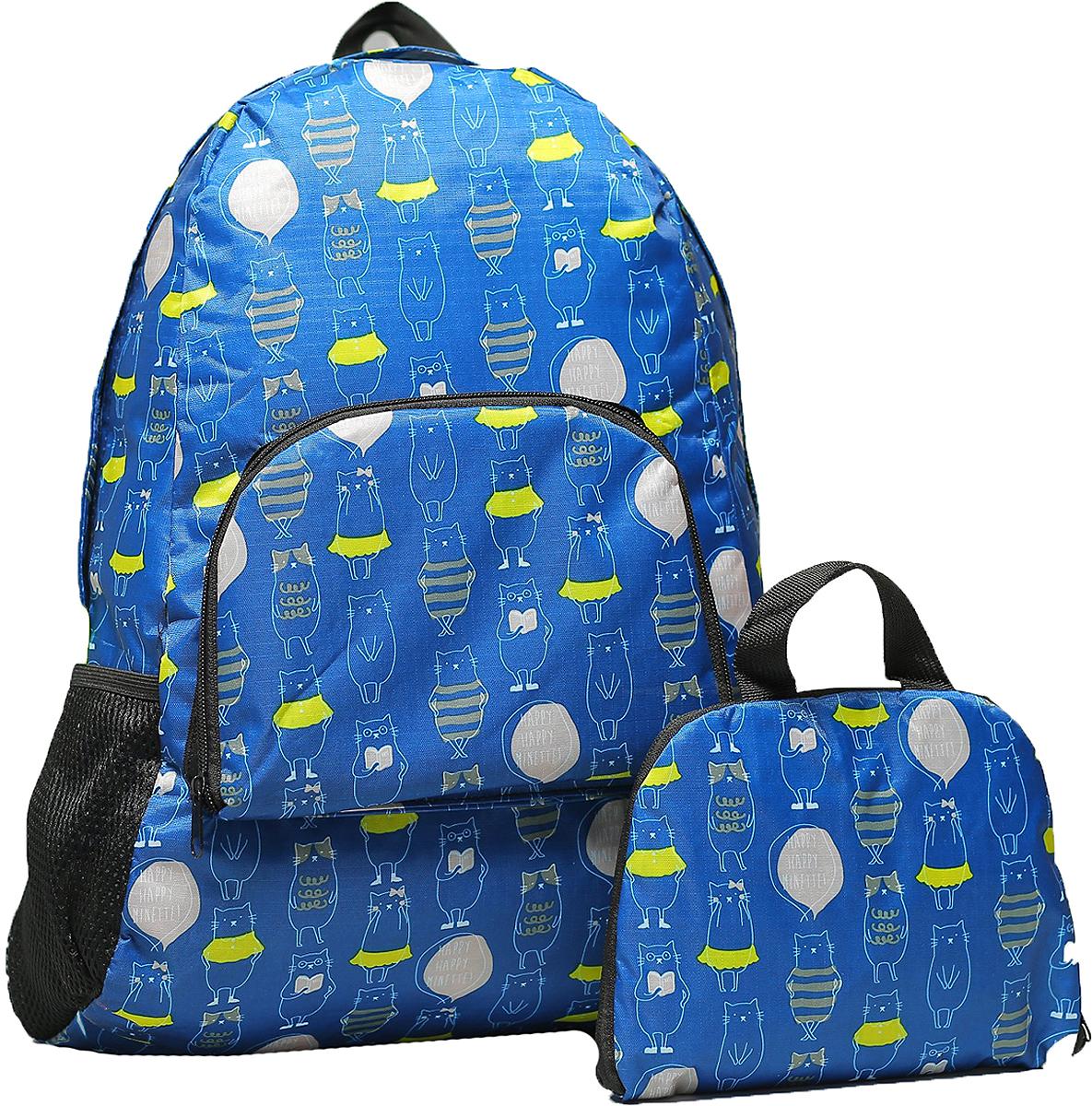 Рюкзак детский Коты цвет синий 2826149, NoName