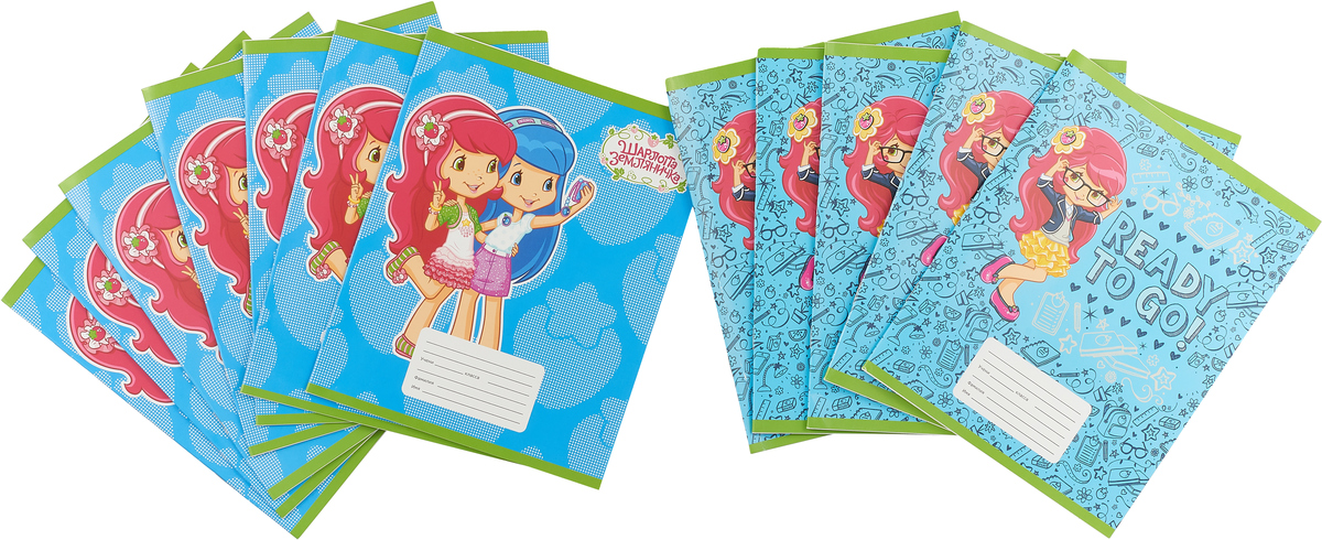 Action! Набор тетрадей Strawberry Shortcake 12 листов в линейку цвет голубой 12 шт action набор цветного картона strawberry shortcake 16 листов