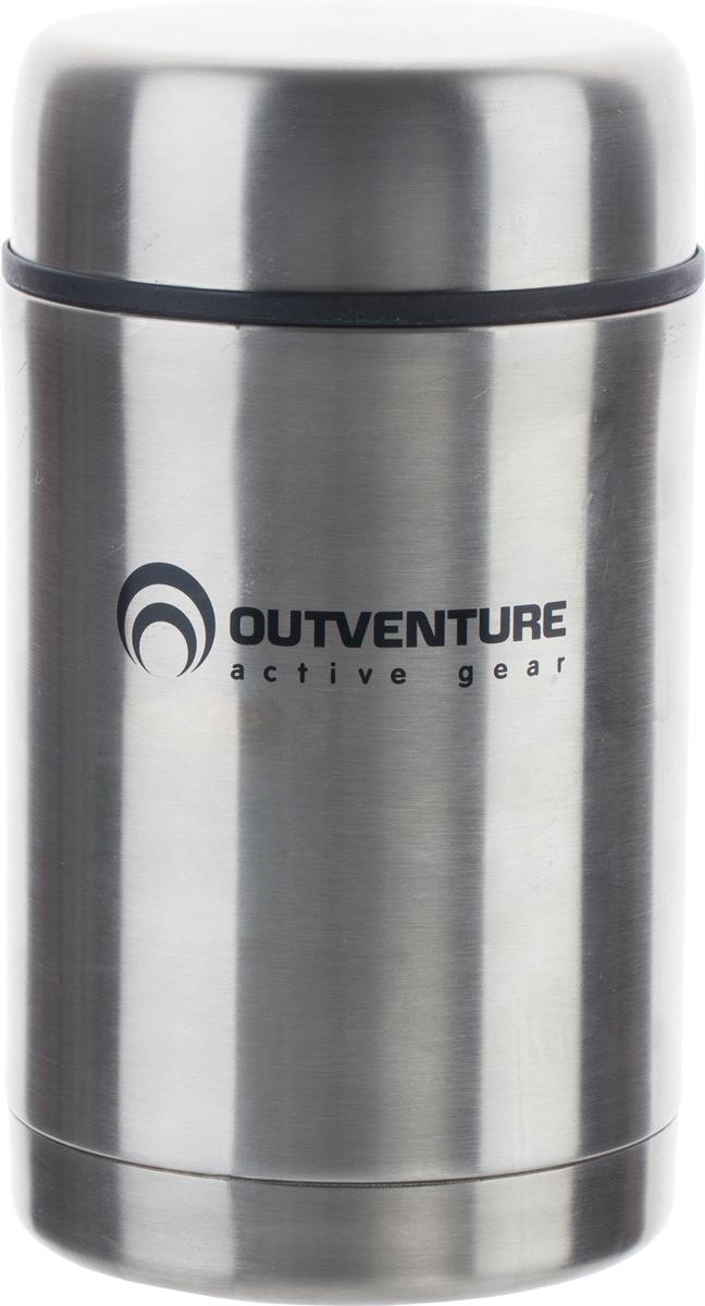 """Термос для еды """"Outventure выполнен из нержавеющей стали. Между стенками корпуса находится вакуум, что и помогает сохранить тепло.  Объем изделия: 0,5 л."""