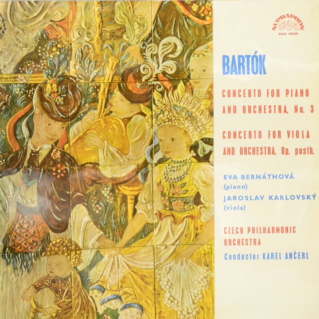 Бела Барток Bela Bartok, Eva Bernathova, Jaroslav Karlovsky. Concerto For Piano And Orchestra No. 3. Concerto For Viola And Orchestra, Op. Posth (LP) new replacement carb carburettor for peugeot 404 504 carburetor carb carby for 404 and 504
