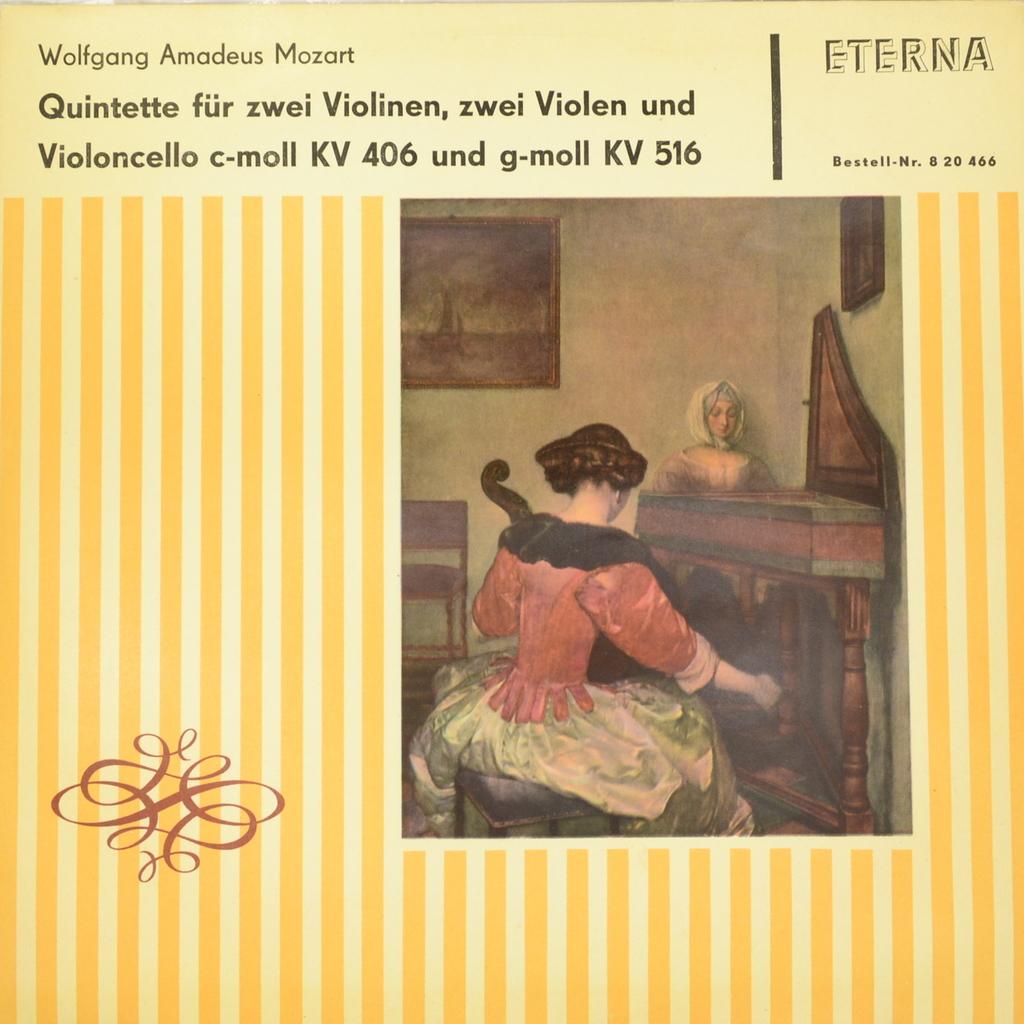 Wolfgang Amadeus Mozart - Ulbrich-Quartett. Quintette Fur Zwei Violinen, Zwei Violen Und Violoncello C-Moll KV 406 Und G-Moll KV 516 (LP)