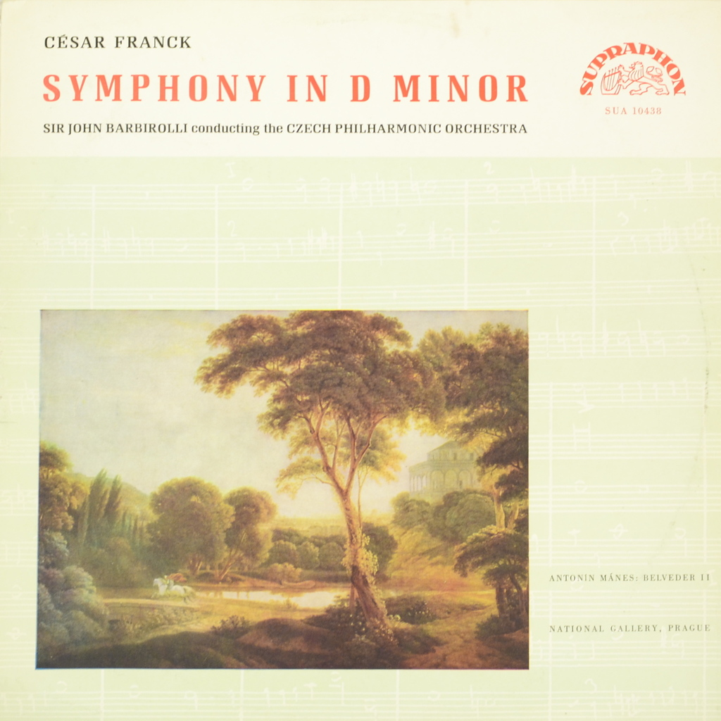Cesar Franck Cesar Franck - Sir John Barbirolli Conducting The Czech Philharmonic Orchestra. Symphony In D Minor (LP)