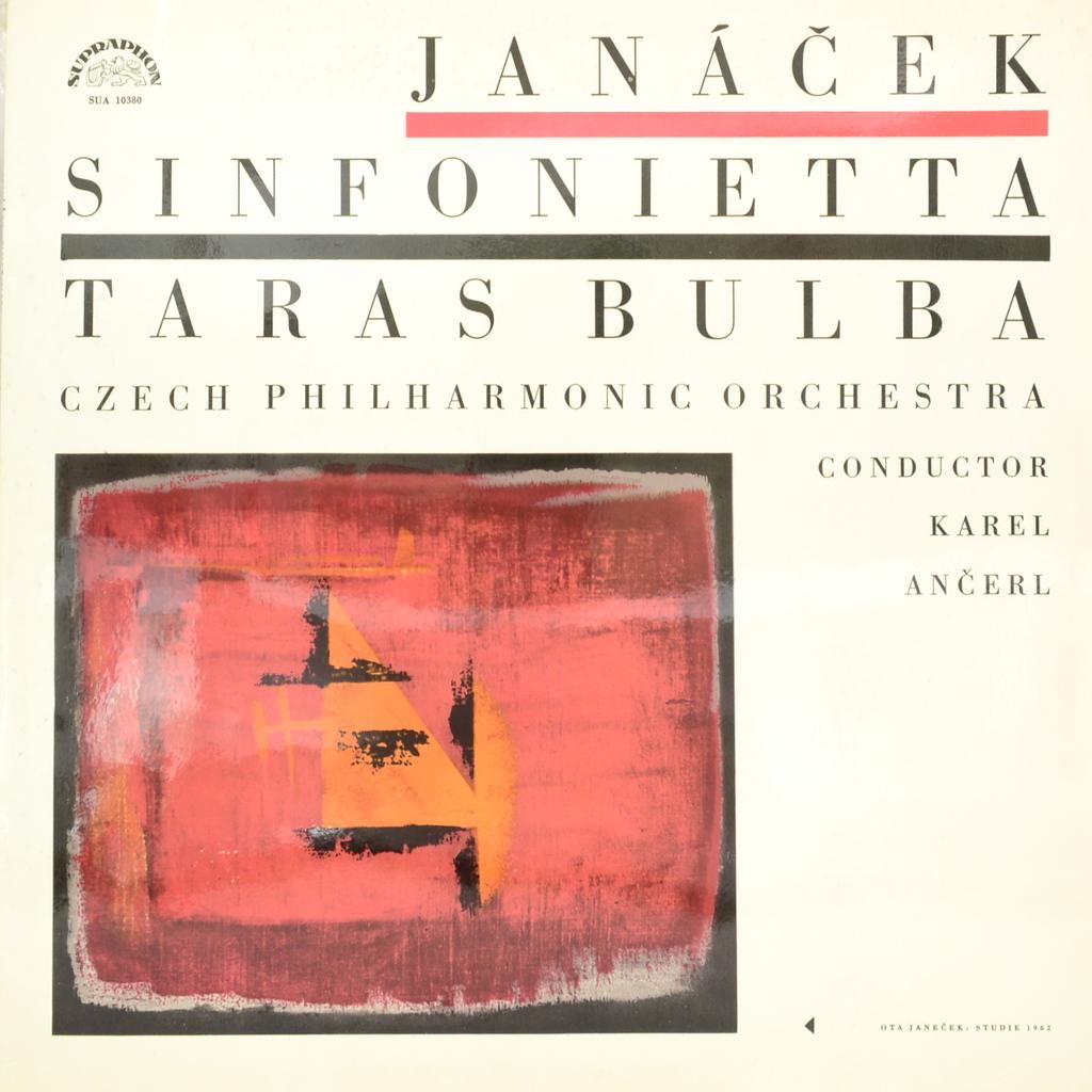 Czech Philharmonic Orchestra Janacek, Czech Philharmonic Orchestra, Karel Ancerl. Sinfonietta. Taras Bulba (LP) jazz philharmonic orchestra
