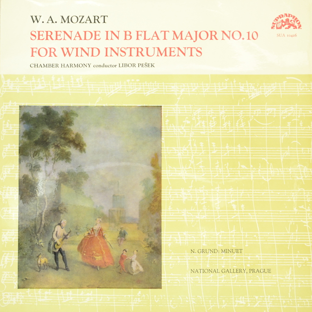 W.A. Mozart, Chamber Harmony, Libor Pesek. Serenade In B Flat Major No. 10 For Wind Instruments (LP)