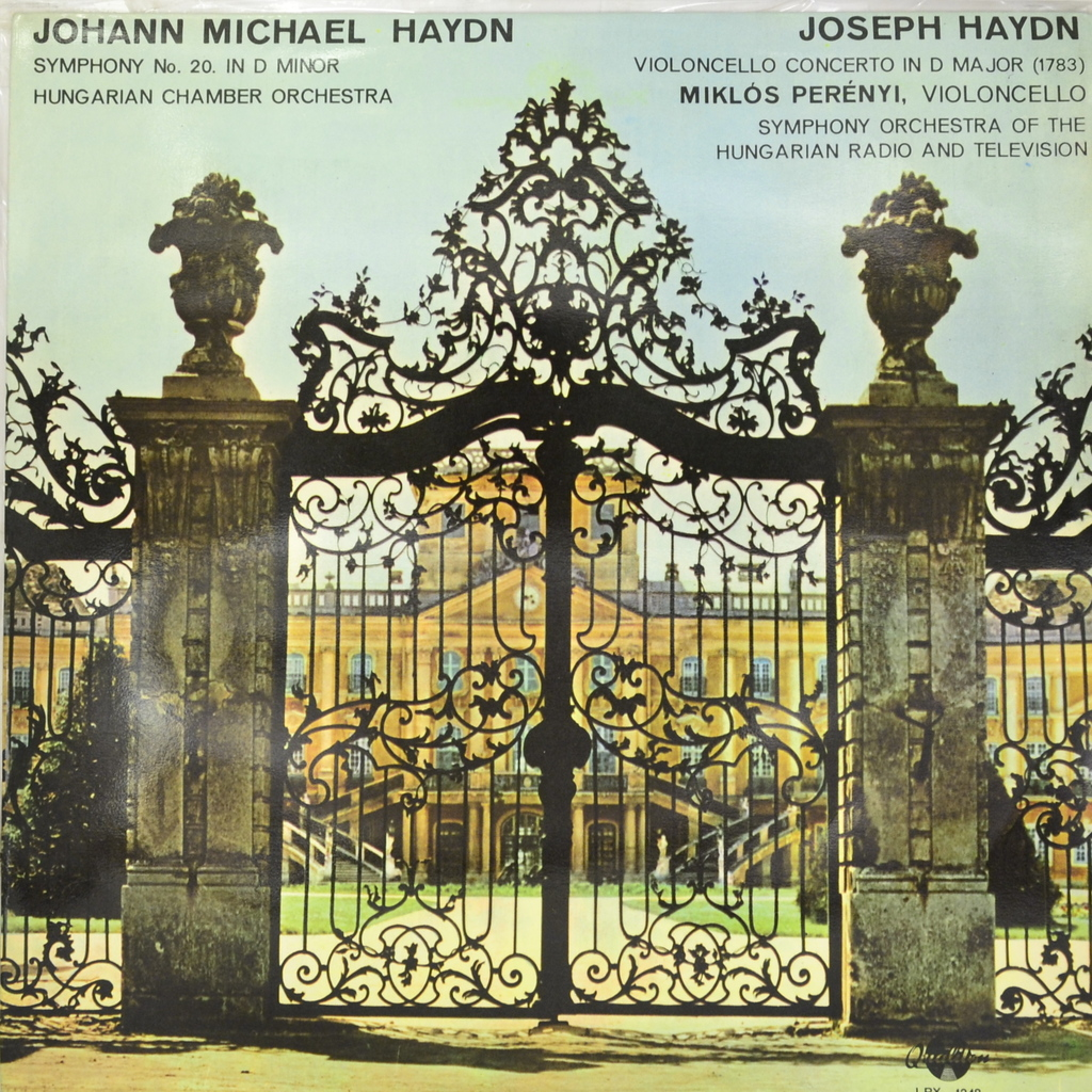 Zakazat.ru: Johann Michael Haydn. Joseph Haydn - Miklos Perenyi. Symphony No. 20 In D Minor. Violoncello Concerto In D Major (1783) (LP)