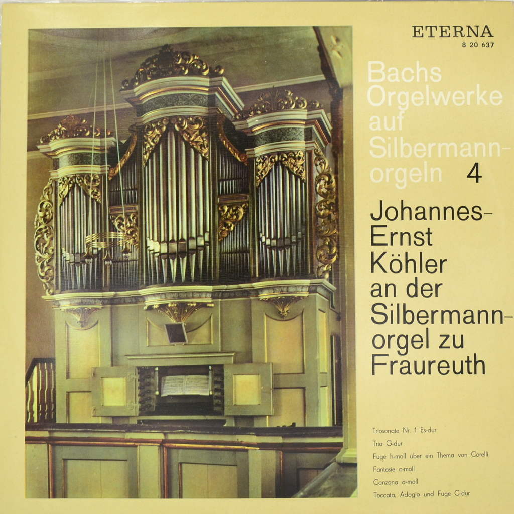 Johann Sebastian Bach. Bachs Orgelwerke Auf Silbermannorgeln 4 (LP)