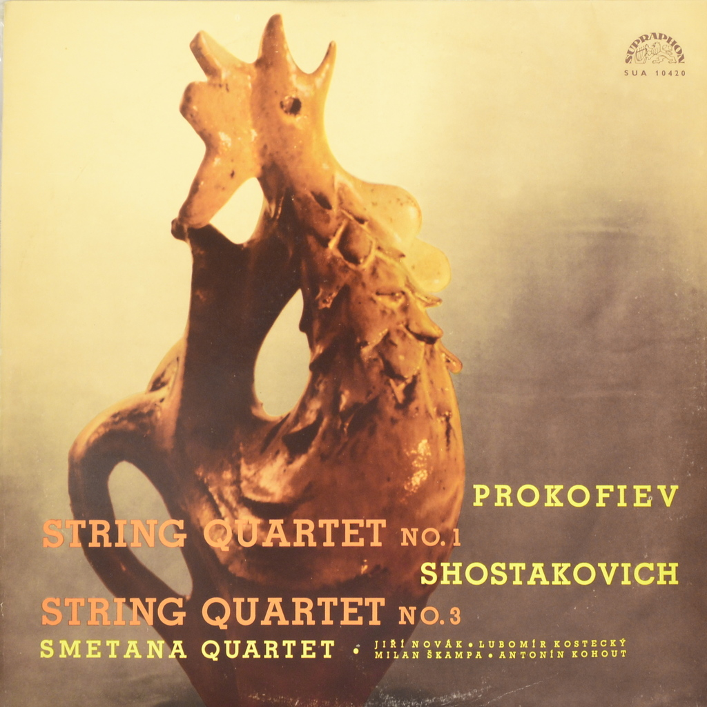 Prokofiev, Shostakovich, Smetana Quartet. String Quartet No. 1. String Quartet No. 3 (LP) серьги by song quartet 3022