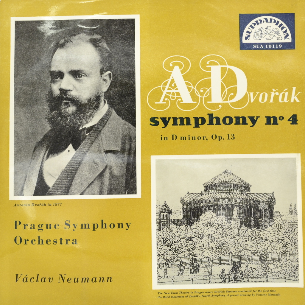 Антонин Дворжак Antonin Dvorak. Symphony No. 4 In D Minor, Op. 13 (LP) антонин дворжак antonin dvorak vlach quartet string quartet in g major op 106 lp
