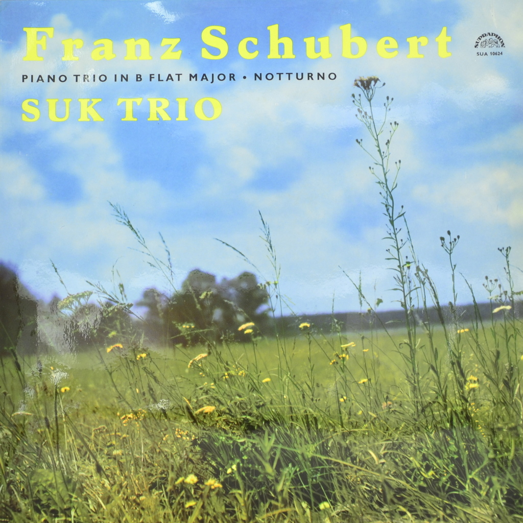 Франц Шуберт Franz Schubert - Suk Trio. Piano Trio In B Flat Major. Notturno (LP)