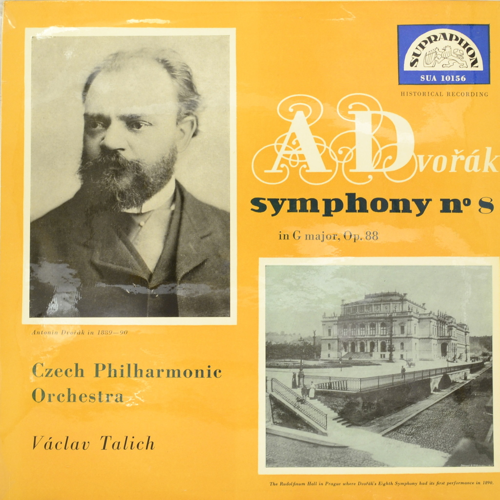 Czech Philharmonic Orchestra A Dvorak, Czech Philharmonic Orchestra, Vaclav Talich. Symfonie No. 8 In G Major, Op. 88 (LP) антонин дворжак antonin dvorak vlach quartet string quartet in g major op 106 lp