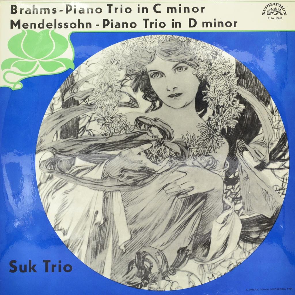 Brahms. Mendelssohn - Suk Trio. Piano Trio In C Minor. Piano Trio In D Minor (LP) crystal trio crystal trio live