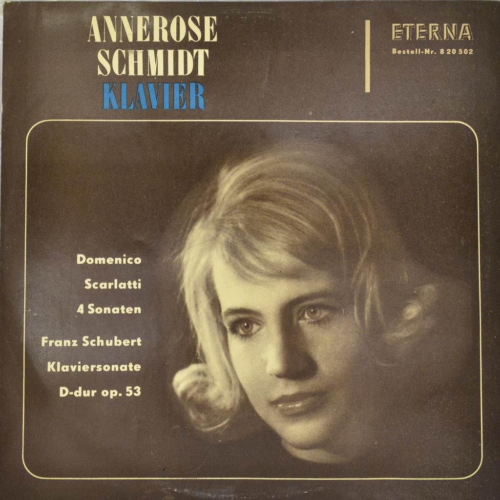 Аннерос Шмидт Annerose Schmidt. AnneRose Schmidt Klavier (LP)