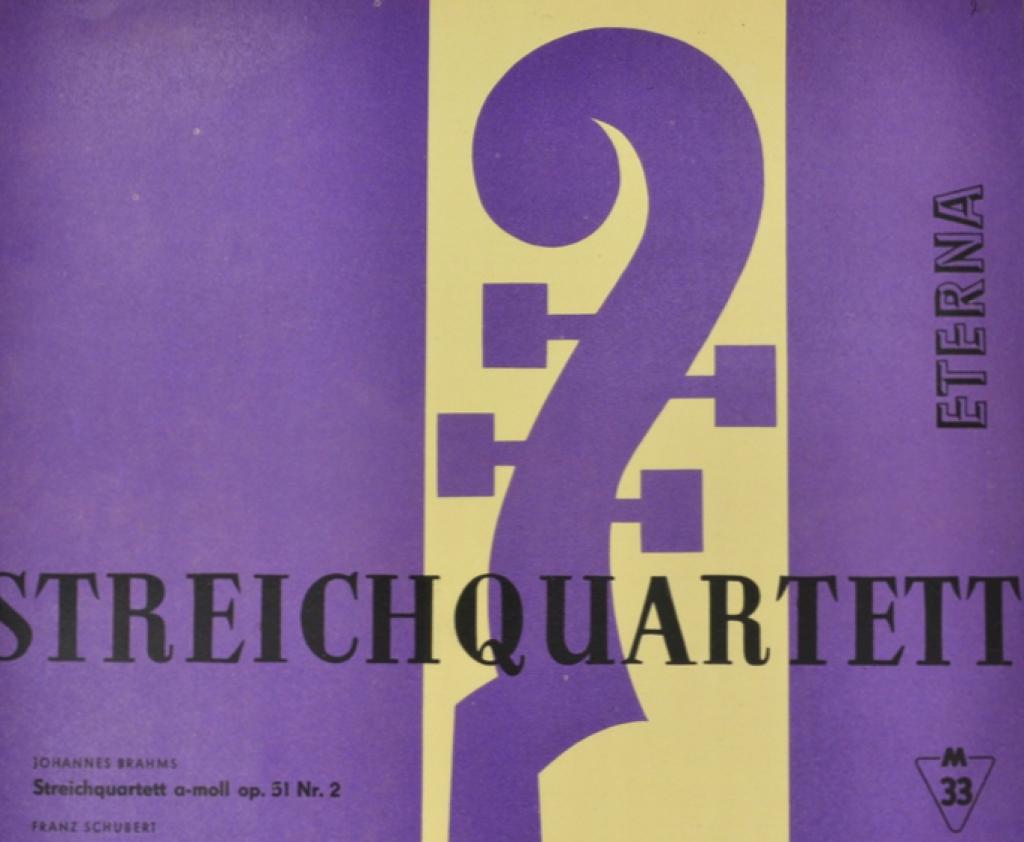 Иоганнес (Йоханнес) Брамс Johannes Brahms. Franz Schubert - Streichquartett der Deutschen Staatsoper Berlin. Streichquartett A-Moll Op. 51 Nr. 2. Quartettsatz C-Moll Op. Posth (LP) evgeny kissin plays schubert brahms bach liszt gluck