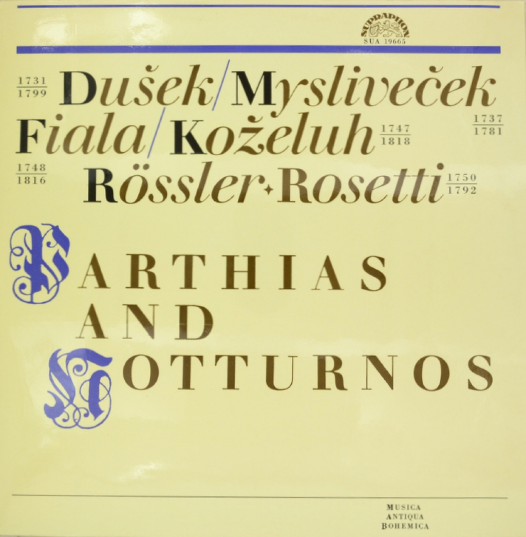 Zakazat.ru: Dusek. Myslivecek. Fiala. Kozeluh. Rossler-Rosetti. Parthias And Notturnos (LP)