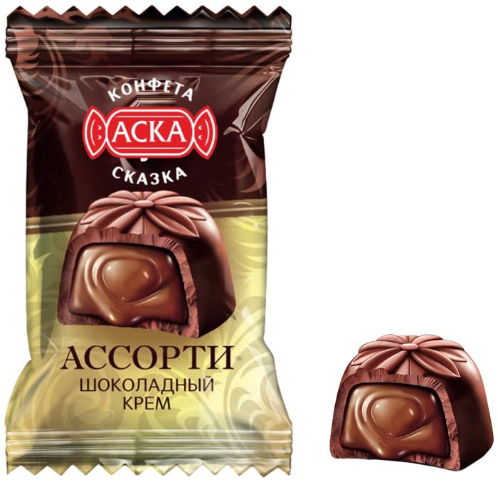 Аска Сказка конфеты со вкусом шоколада чудесинка со вкусом шоколада