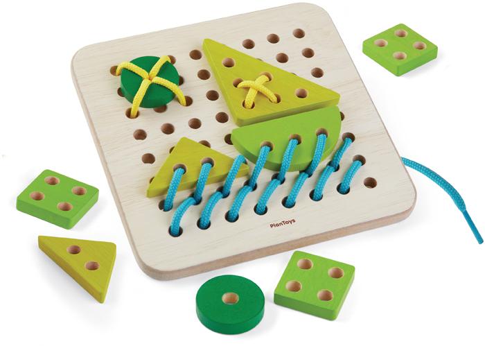 Plan Toys Набор со шнуровкой Планшет головоломка plan toys