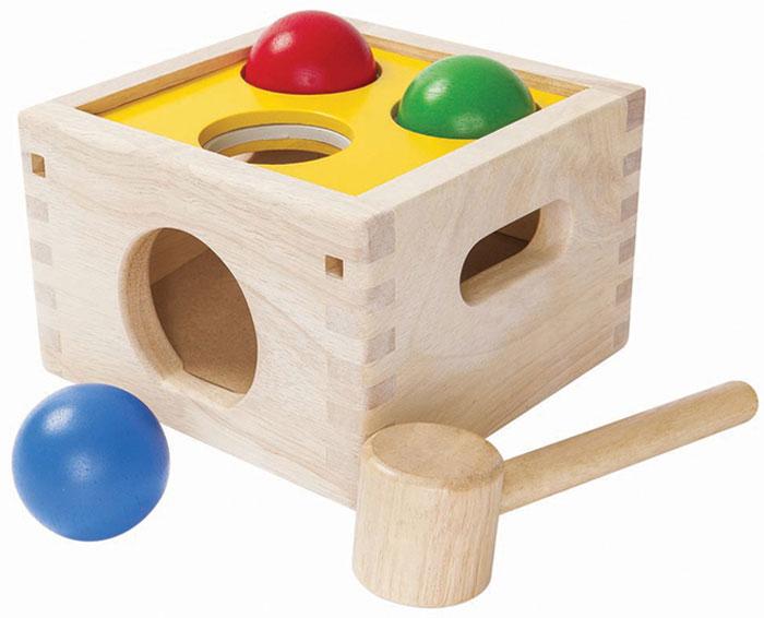 Plan Toys Забивалка Молоток с шарами plan toys игра пчелки plan toys