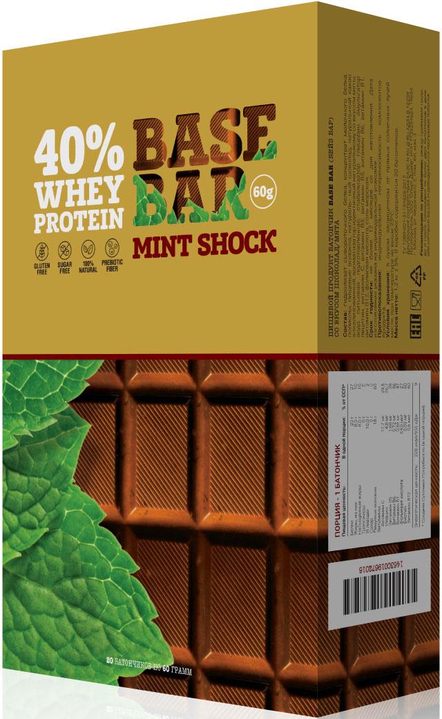 """Батончик протеиновый Base Bar """"Mint Shock"""", 20 шт"""