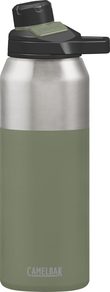 """Новая версия лучшего Термоса Chute Vacuum. Вакуумный термос из нержавеющей стали, без BPA, BPS, BPF. Не впитывает запахи. Держит холодную температуру 48 часов, горячую 6 часа. Кружка не нужна! Уникальное горлышко с внутренней резьбой - пить комфортно! Крышка """"на прицепе"""" - не упадёт в грязь и не потеряется. NEW: Уникальный магнитный фиксатор крышки - крышка не болтается и не мешает пить! Жёсткая петля для двух пальцев - удобно держать и носить в руке."""