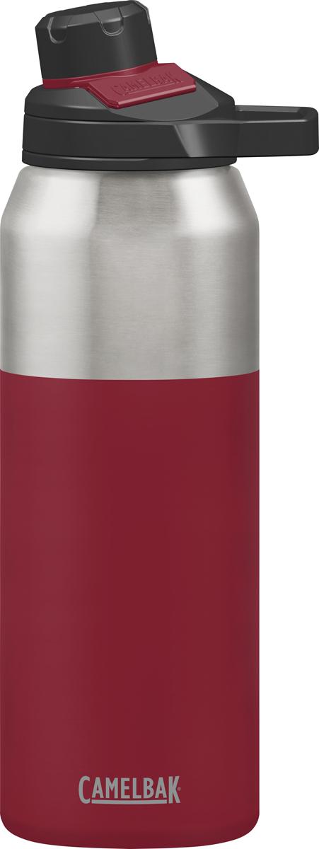 Вакуумный термос Camelbak изготовлен из нержавеющей стали без BPA, BPS, BPF. Не впитывает запахи. Термос держит холодную температуру  48 часов, горячую 6 часов.  Термос оснащен уникальным горлышком - удобно пить прям из него, кружка не нужна. Крышка прикреплена к термосу, оснащена магнитным  фиксатором.  Жёсткая петля для двух пальцев - удобно держать и носить в руке.