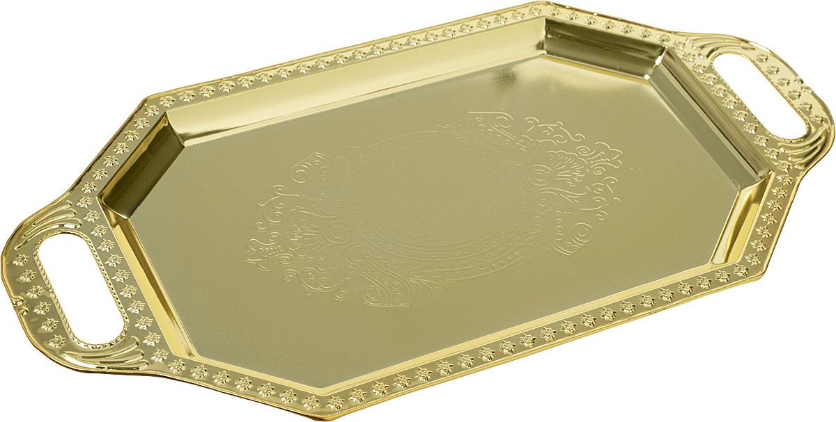 Поднос сервировочный Best Home Kitchen, цвет: золотистый, 37,5 х 19,  , см. 4124021