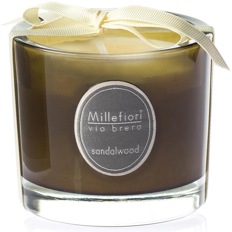 Cвеча ароматическая Millefiori Milano Сандаловое дерево / Sandalwood, 180 г ароматическая свеча barbershop sandalwood