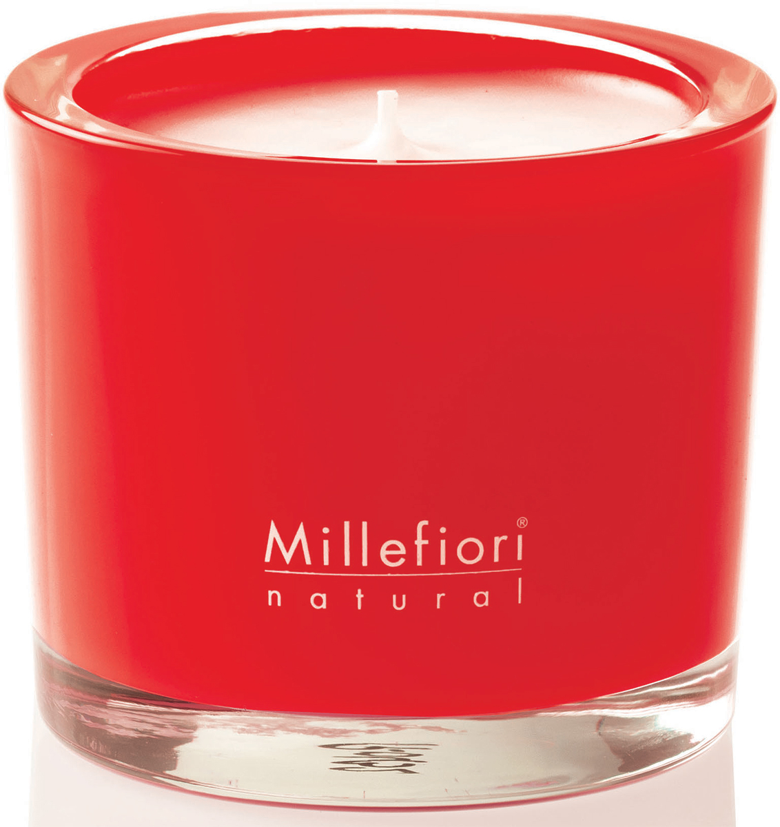 Cвеча ароматическая Millefiori Milano Яблоко и корица / Mela & Canela, 180 г духи спрей для дома millefiori milano natural яблоко и корица mela