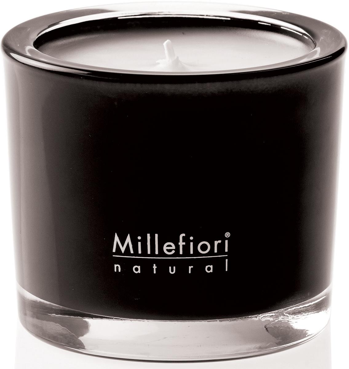 Cвеча ароматическая Millefiori Milano Черный / Nero, 180 г духи спрей для дома millefiori milano natural яблоко и корица mela