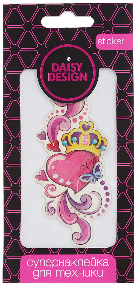 Daisy Design Наклейка для техники Корона на сердце наклейки для техники daisy design наклейка для техники sweet heart ключ от сердца