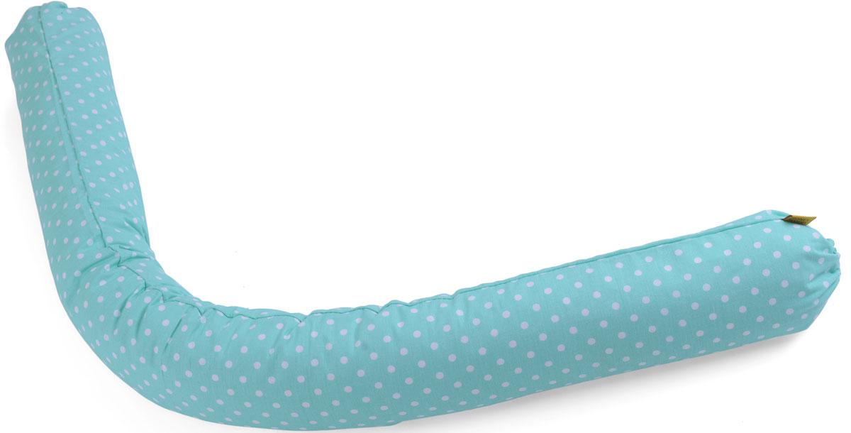 HoneyMammy Защитный валик в детскую кровать Grano Saraceno цвет бирюзовый