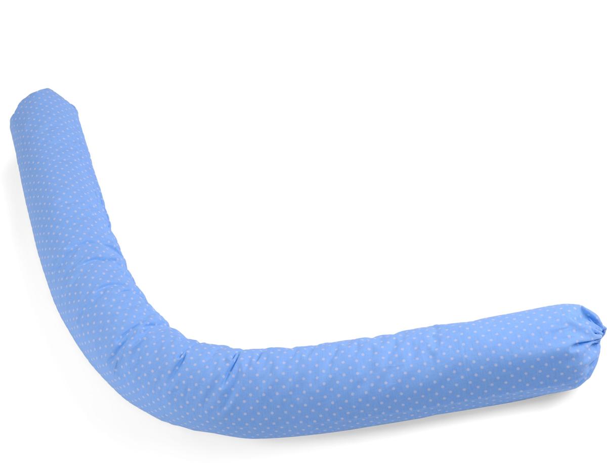 HoneyMammy Защитный валик в детскую кровать Grano Saraceno цвет синий