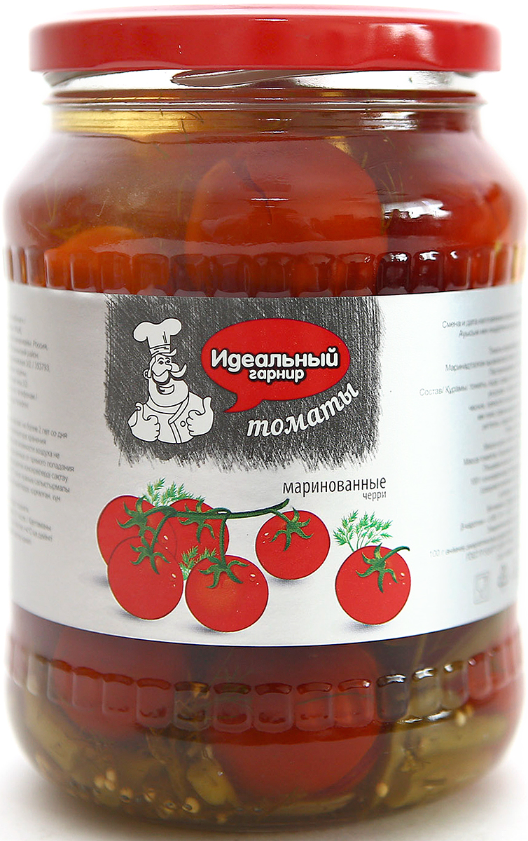 Идеальный гарнир Томаты черри, 700 мл фэг томаты соленые зеленые 1000 г
