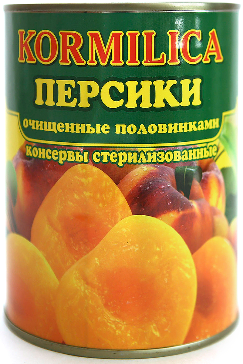 Кормилица Персики консервированные половинками в сиропе, 850 мл Кормилица