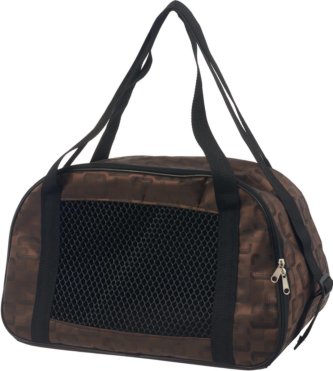 Сумка-переноска для животных Теремок, цвет: коричневый, 45 х 25 х 27 см сумка переноска для животных гамма стефани цвет синий 435 х 270 х 250 мм