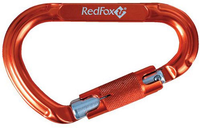 Карабин альпинистский Red Fox AK-12100N, с кейлоком, цвет: оранжевый, 100 х 68 мм
