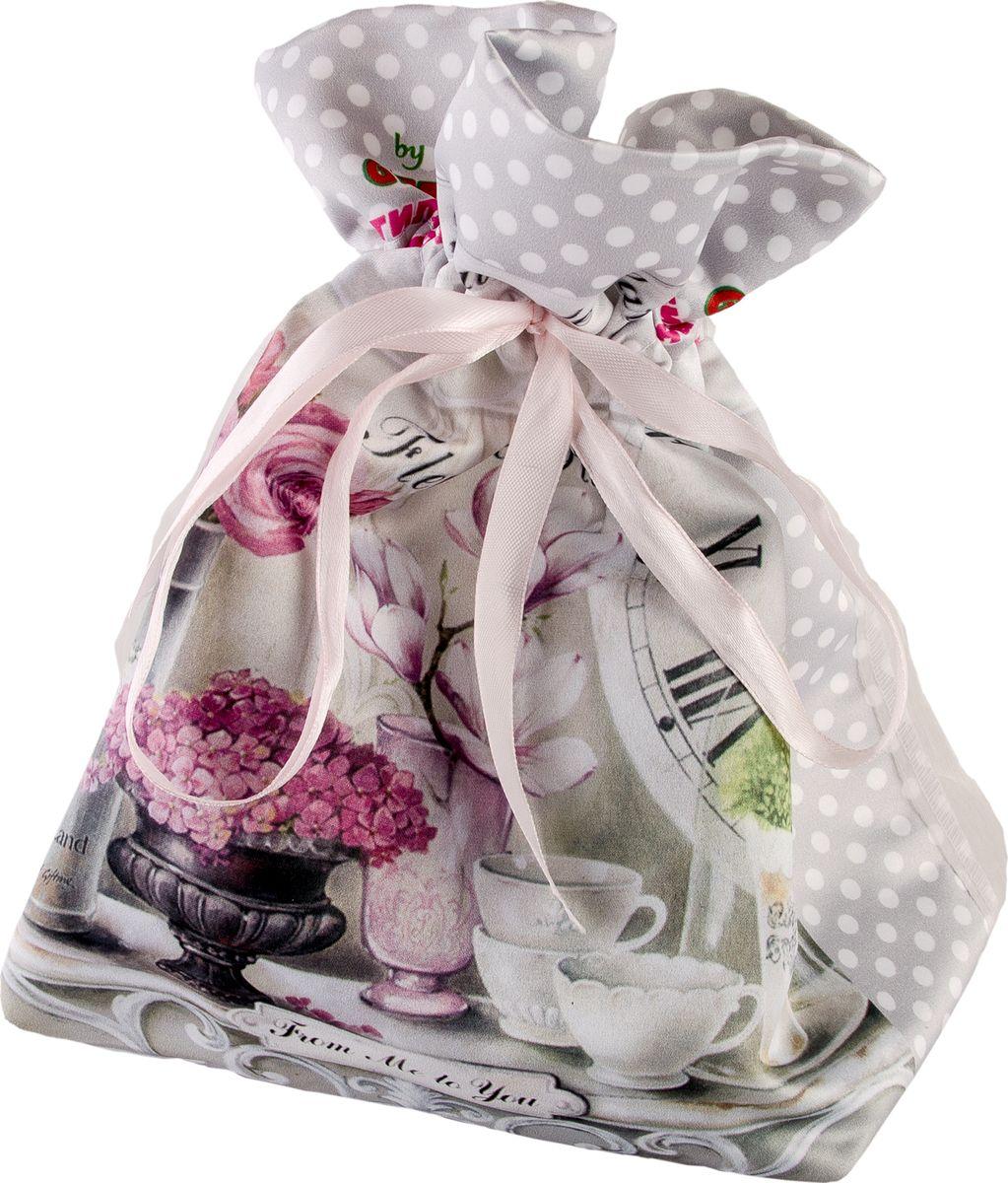 Мешочек подарочный Gift'n'Home Парижские цветы, 15 х 18 см бра 29 x 18 х 25 см