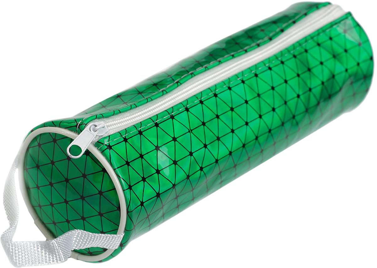 Calligrata Пенал школьный Голография неон цвет зеленый 2879269 пенал школьный мишка силикон 43816