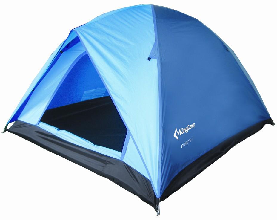 Палатка туристическая King Camp 3012 Family, цвет: синий