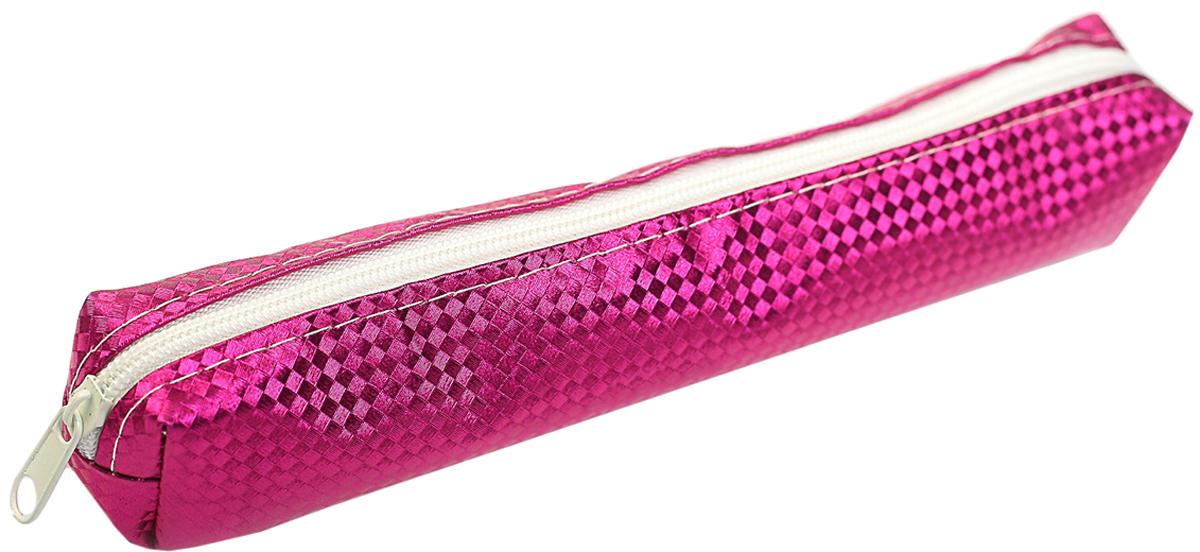Calligrata Пенал школьный Металлик цвет розовый 2879222
